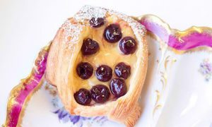Cherry Danish Viennoiserie Pastries