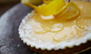 Slow baked lemon gourmet tart